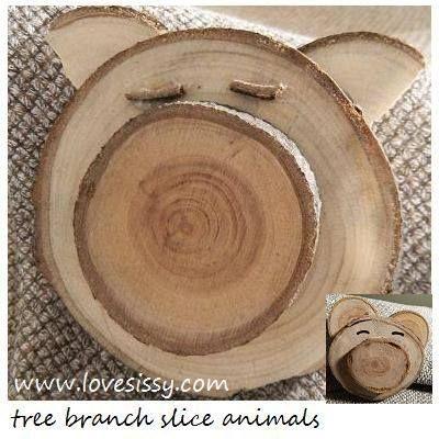 tree branch slice pig