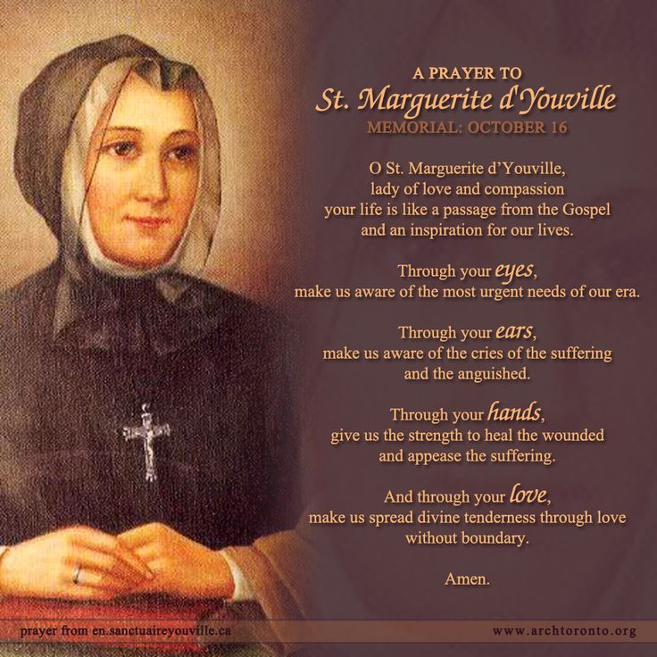 October 16 Is The Memorial Of St Marguerite D Youville