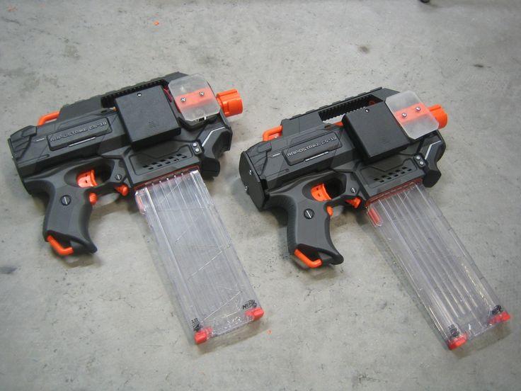 Nerf Uzis Minimized Rapidstrikes Nerf Mod Rapidstrike
