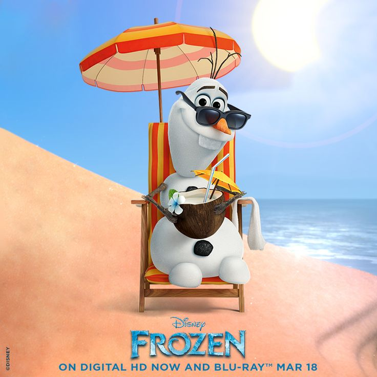 "Olaf the snowman is a character from the hit Disney film ""Frozen"" who dreams of summer."