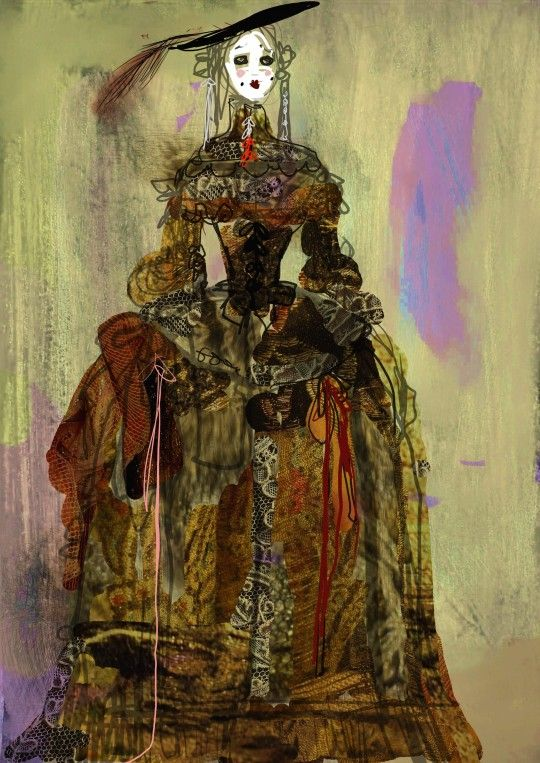 Costume design by Christian Lacroix for a Molière play.