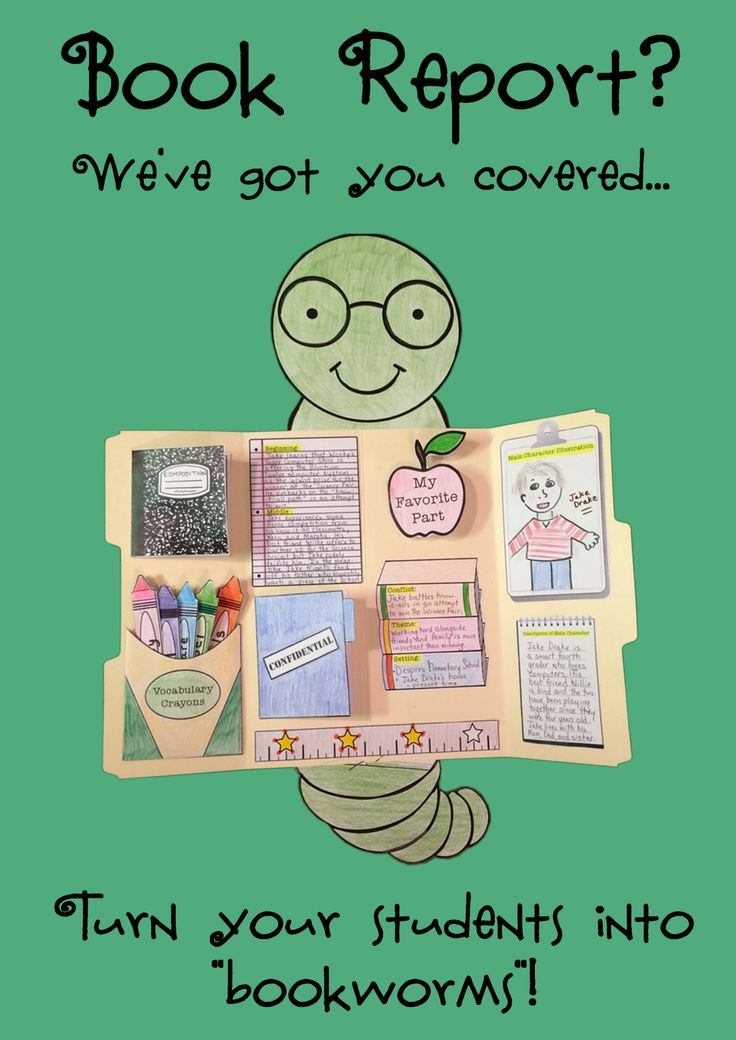This hands on approach to a book report will turn any kid into a bookworm. Templates and foldables are used to identify characters, summarize the beginning, middle, and end of the story (shhhh....the end is confidential!), rate the book on a 4 star basis, report on a favorite part, work with difficult vocabulary words, capture the theme, setting, and conflict....and so much more!!! ** Each template is outlined in black ink for easy and economical printing....students do the coloring! **