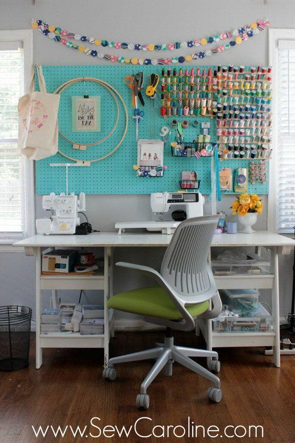 Sewing Room Storage & Organization Ideas