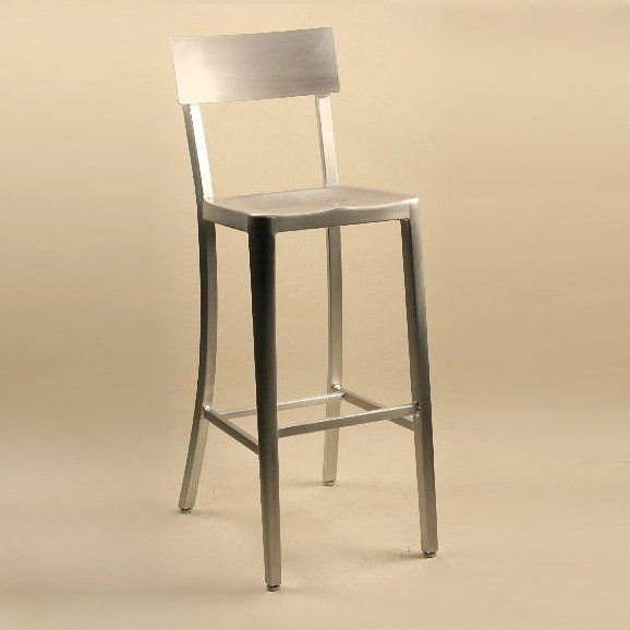 Alston Quality Industries AC383 Melanie Aluminum Outdoor Bar Stool
