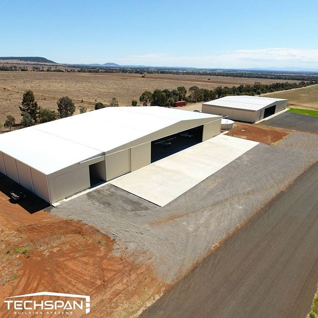 Nice aerial shot of a hangar we built at Gunnedah NSW #gunnedah #gunnedahnsw #airport #hangar #plane #nsw #techspanbuildings #aircraft #avgeek #instagramaviation #airplane #aviation #aviationphotography