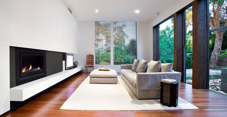 Inspiring living room design featuring the Heatmaster Enviro Gas Fireplace | Heatmaster - made in Australia.