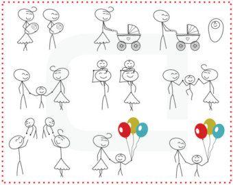 Strichmännchen-Menschen lieben Hochzeitspaar von TeoldDesign
