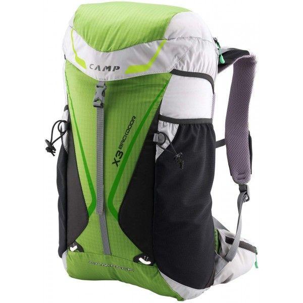 Batoh Camp X3 Backdoorje vyrobený zviacerých vysoko odolných materiálov. BatohCamp X3 Backdoorsa odlišuje od iných batohov hlavne prístupom do batohu zo zadnej strany. #lezenie #turistika