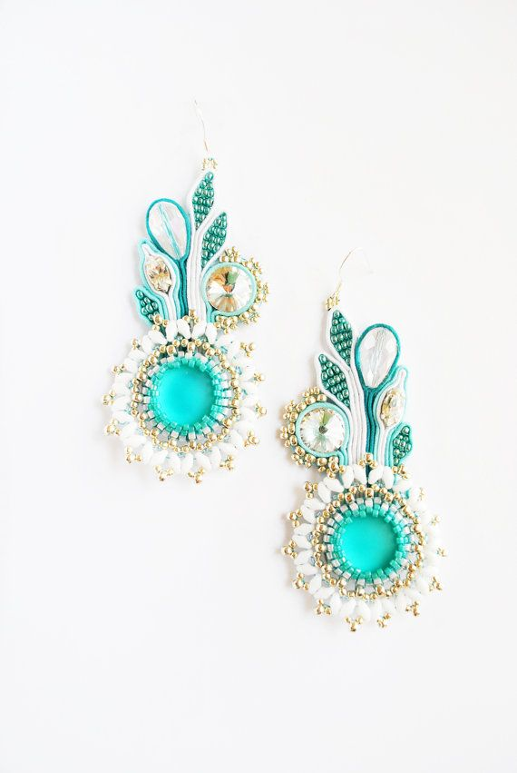 Hey, I found this really awesome Etsy listing at https://www.etsy.com/listing/226558327/soutache-earrings-flower-earrings