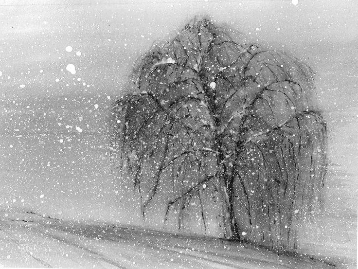 Inverno acquerello e china