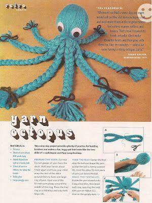 octopus from yarn