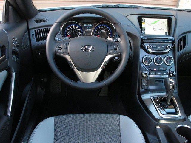 2009 Hyundai Genesis interior   2013 Hyundai Genesis Coupe: Gauges and center stack are new