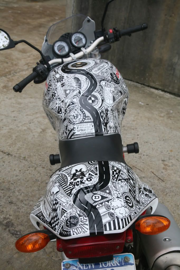 Sharpie 2006 Ducatti Monster S2R. Awesome artwork on awesome bike