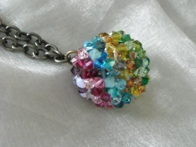 llamador de angeles colgante cristal de swarosvky,cadena hecho a mano