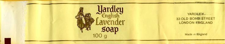 Wikkel van lavendelzeep van Yardley