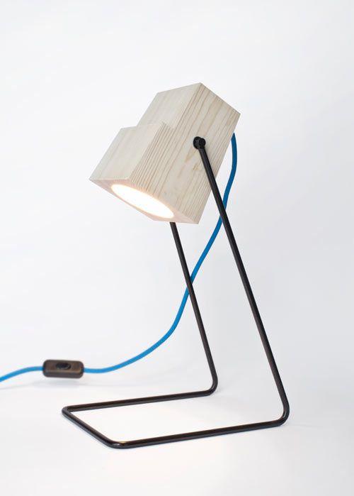 Minimalist 360° Table #Lamp Of Natural Wood
