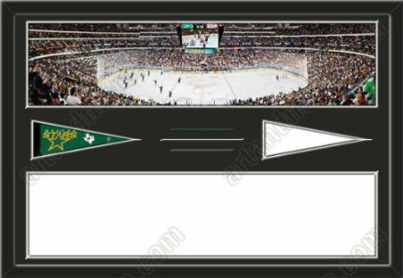 Dallas Stars American Airlines Center Stadium & Your Choice Of Stadium Panoramic Framed-House Divided-House Together-Awesome & Beautiful