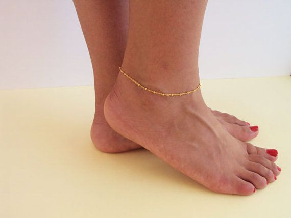 Gold Filled Satellite Anklet Minimalist Anklet by VasiaAccessories
