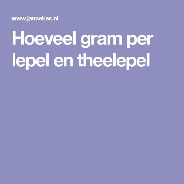 Hoeveel gram per lepel en theelepel