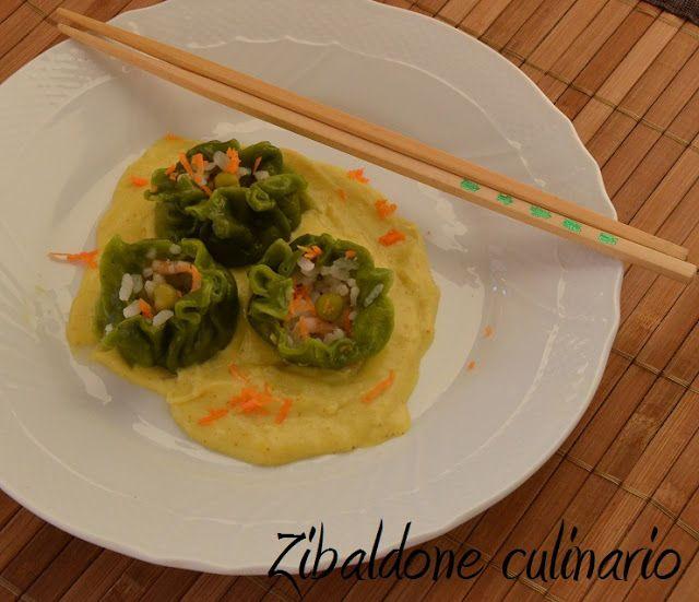 Zibaldone culinario: Ravioli di gamberi al vapore con salsa al curry