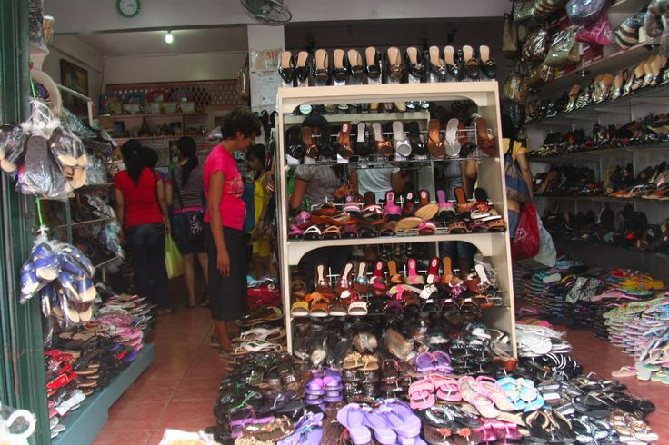 A shoe store in the Town of Liliw, Laguna, Philippines
