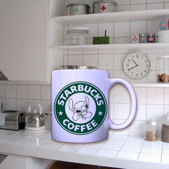 starbucks coffee stich In Mug by dirimug on Etsy