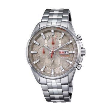 FESTINA chronograph F6844/2 Ανδρικός σπορ χρονογράφος FESTINA με γκρι καντράν, ημερομηνία, ημέρα & ταχύμετρο με μπρασελέ | ΤΣΑΛΔΑΡΗΣ στο Χαλάνδρι #Festina #χρονογραφος #μπρασελε #ρολοι