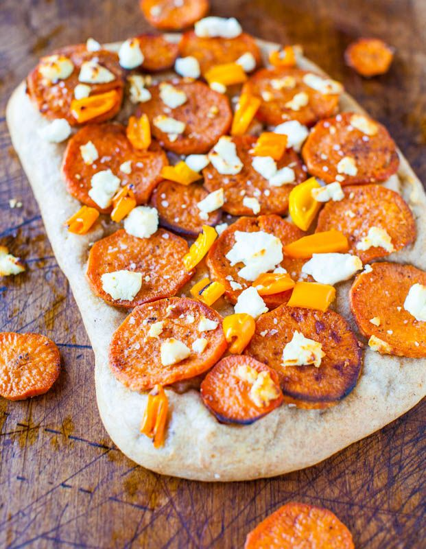 Roasted Sweet Potato & Goat Cheese Pizza with 1-Hour ...