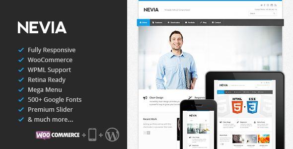 Nevia adalah Responsif tema Wordpress Multi-Purpose premium diciptakan untuk website perusahaan dan portofolio dengan dukungan untuk WooCommerce. Ini fitur yang sangat bersih, responsif desain yang sempurna untuk menciptakan citra profesional perusahaan Anda.