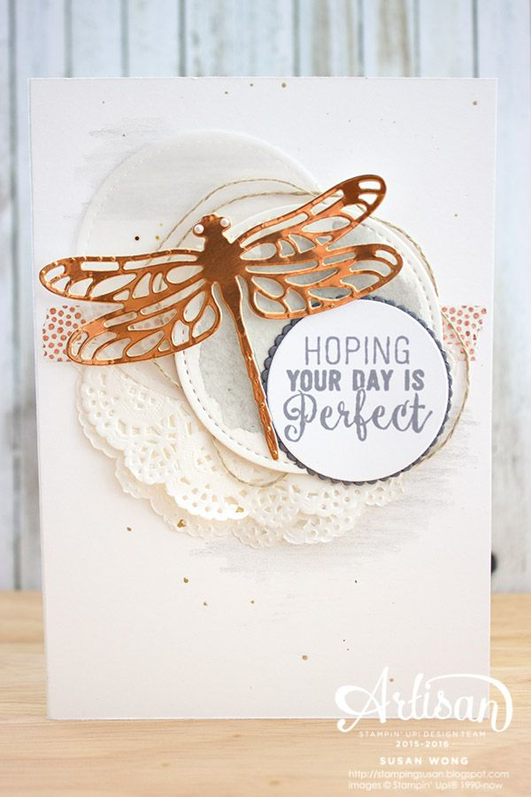 Detailed Dragonfly + Suite Sentiments ~ Susan Wong