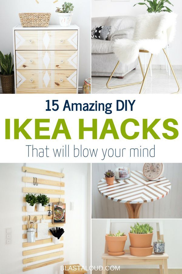 15 Diy Ikea Hacks To Transform Your Furniture On A Small Budget Ikea Diy Diy Home Decor For Apartments Renting Diy Ikea Hacks