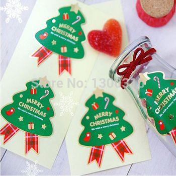 С рождеством христовым вал печать этикеток украшения наклейка для еда упаковка labesl 5 * 6,5 см 150 pcs/lot
