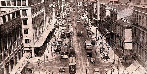 Panepistimiou str. in the end of '40 decade - Old photos from Athens, Attiki