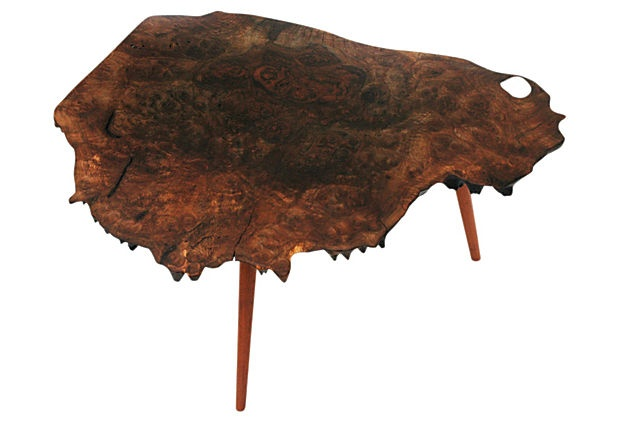 Fossil Table Wood Base, No. 2 #athomewithSA