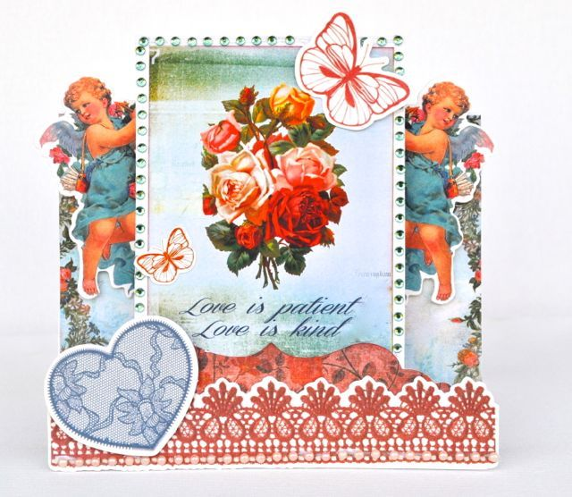 Angels everywhere! A step card made using the Key To My Heart Collection from Kaisercraft. By Kelly-ann Oosterbeek.