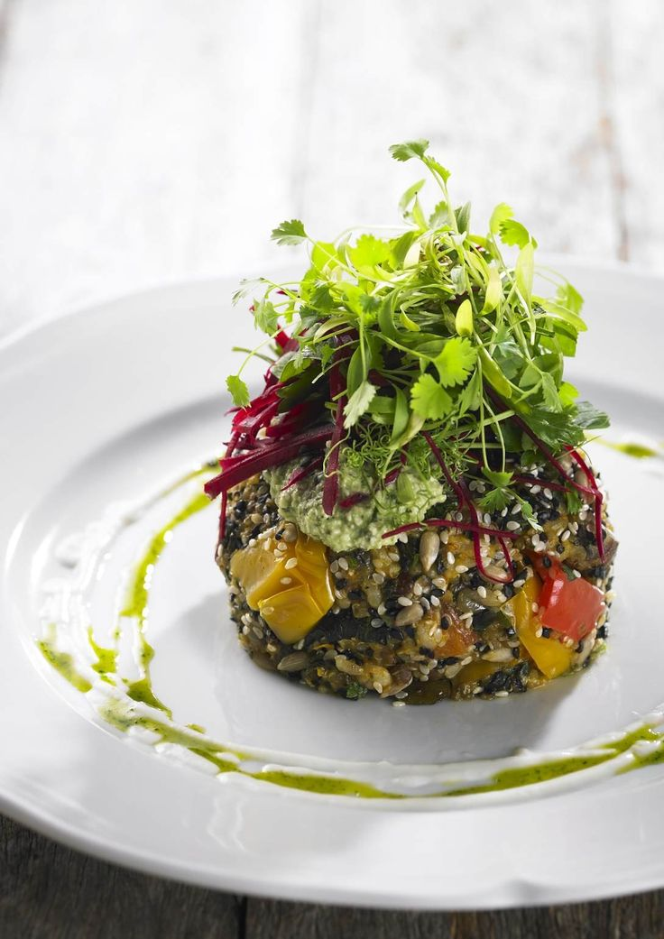 Quinoa and Roast Vegetable Patty