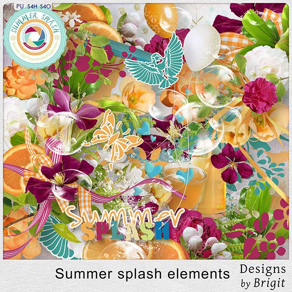 Digital Art :: Element Packs :: Summer splash elements by Designs by Brigit