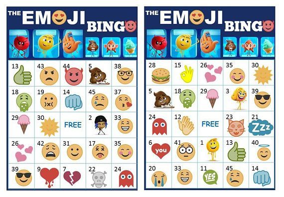 Have you watched the Emoji Movie yet ? well here are 40 Printable Emoji Bingo Cards Prefilled Emoji's Clip Arts that will activate your kids and friends @emojibingo #emojibingocards #emojimovie