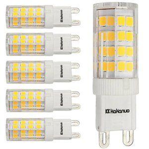 Kakanuo 6X G9 4W LED Ampoule 220-240V Blanc Chaud 3000K Non-dimmable Base en céramique 360LM Remplacement A L'halogène 51 2835SMD 360…