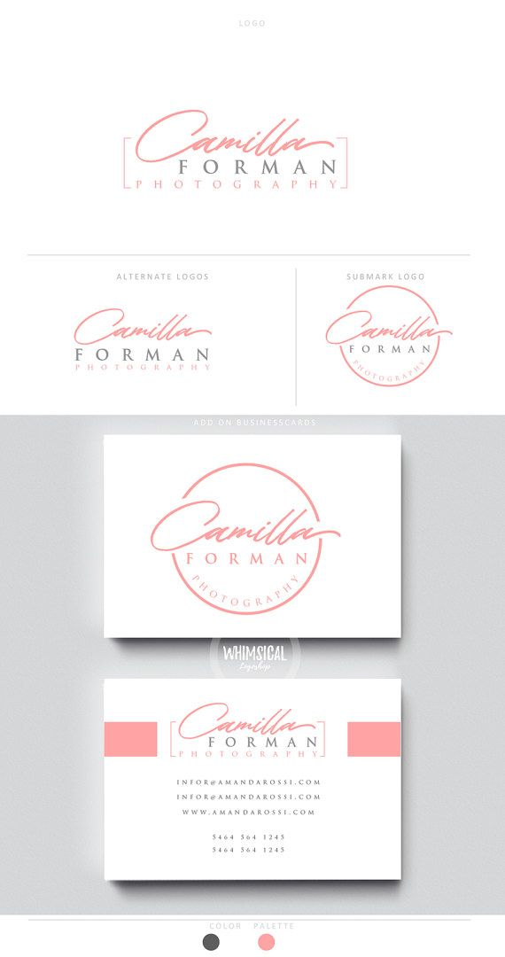feminine signature logo pen initials businesscards  script