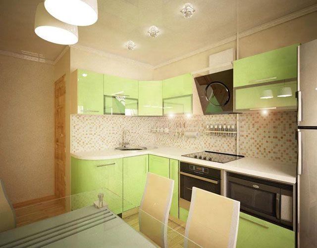 дизайн кухни 7 кв м