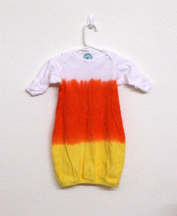 Halloween costume Infant Candy Corn baby bunting cotton ...