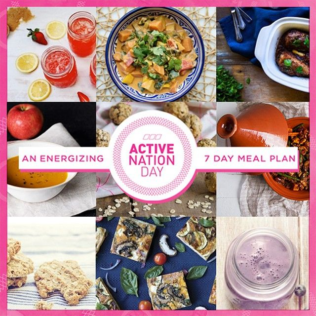 Active Nation Day Energizing 7 Day Meal Plan