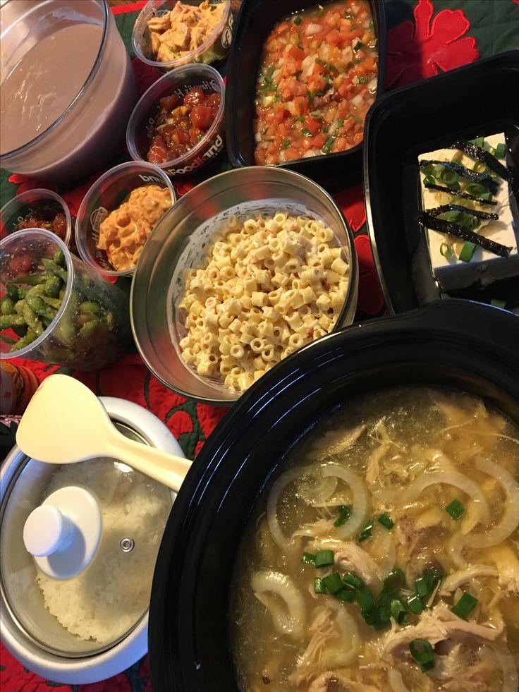 Chicken Long Rice with (Poi, Lomi, Mac Salad, Tofu, Poke sides)