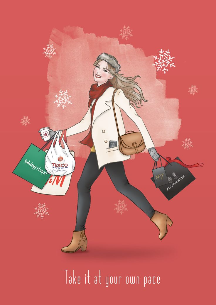 Here's a first look at our Christmas illustration for Capitol Shopping Centre, a merry Christmas shopper! by S3 Advertising