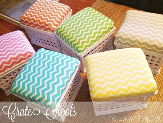 How To Make Plastic Crate Stools For Your Home | The WHOot