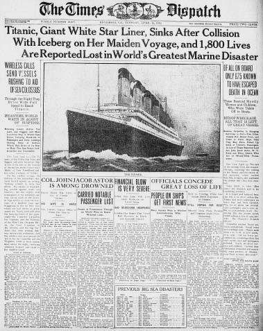 times new york titanic article vintage