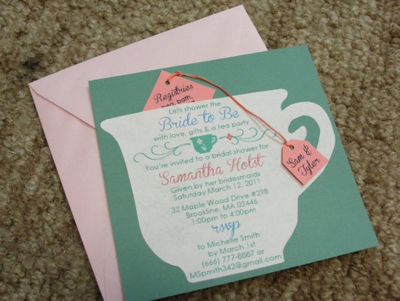 17 Best images about Tea Party Invitations – Tea Party Bridal Shower Invitations
