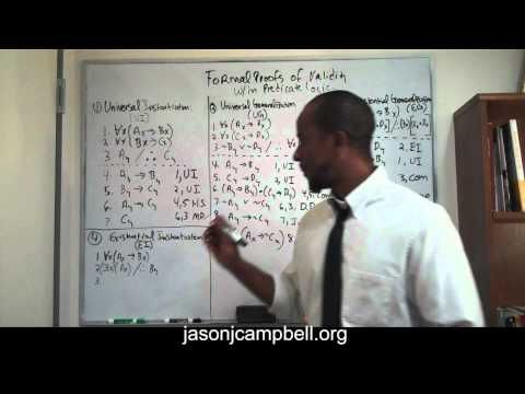7. Logic Lecture: Predicate Logic: Formal Proofs of Validity: Existential Instantiation - YouTube
