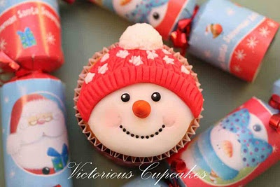 Kerst Cupcakes: Fondant Ice, Christmas Desserts, Snowman Cupcakes, Cakes Decor, 16 Holidays, Victorious Cupcakes, Christmas Cupcakes, Cupcakes Rosa-Choqu, Holidays Desserts